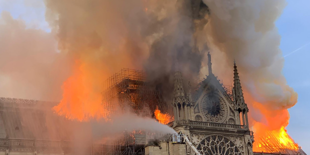 16 Aprile 2019: a fuoco la Cattedrale di Parigi